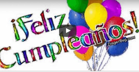 videos con mensajes de cumpleanos